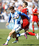 CD Leganes' Carl Madjani (l) and Sevilla FC's Luciano Vietto during La Liga match. October 15,2016. (ALTERPHOTOS/Acero)