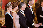 Queen Letizia during the gala dinner given to the President of the Argentine Republic, Sr. Mauricio Macri and Sra Juliana Awada at Real Palace in Madrid, Spain. February 19, 2017. (ALTERPHOTOS/BorjaB.Hojas)