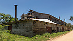Abandoned, derelict Pepperpot Plantation processing plant for cacao and coffee beans.  Near Paramaribo, Suriname.