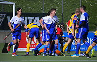 Action from the 2018 Men's National Hockey League match between Auckland and Southern at National Hockey Stadium in Wellington, New Zealand on Tuesday, 18 September 2018. Photo: Dave Lintott / lintottphoto.co.nz