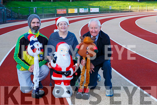Mike O'Regan, Dineen and Denis Brosnan are inviting everyone to join them at An Riocht for the Goal Mile on Christmas day