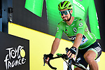 Green Jersey Peter Sagan (SVK) Bora-Hansgrohe at sign on before Stage 8 of the 2019 Tour de France running 200km from Macon to Saint-Etienne, France. 13th July 2019.<br /> Picture: ASO/Alex Broadway | Cyclefile<br /> All photos usage must carry mandatory copyright credit (© Cyclefile | ASO/Alex Broadway)