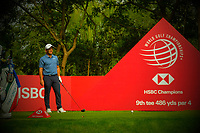 Francesco Molinari (ITA) on the 2nd tee during the 2nd round at the WGC HSBC Champions 2018, Sheshan Golf CLub, Shanghai, China. 26/10/2018.<br /> Picture Fran Caffrey / Golffile.ie<br /> <br /> All photo usage must carry mandatory copyright credit (&copy; Golffile | Fran Caffrey)