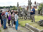 Sean Collins gives a guided tour on the open day at Cord Cemetery. Photo:Colin Bell/pressphotos.ie