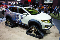 NEW YORK, NY - APRIL 12: Nissan Rogue is displayed at the New York International Auto Show, at the Jacob K. Javits Convention Center on April 12, 2017 in Manhattan, New York. Photo by VIEWpress/Eduardo MunozAlvarez