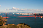 Marin Headlands; sightseeing; Golden Gate Bridge, San Francisco, California, USA.  Photo copyright Lee Foster.  Photo # california108730