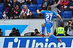 10.03.2019, Prezero-Arena, Sinsheim, GER, 1 FBL, TSG 1899 Hoffenheim vs 1. FC Nuernberg, <br /> <br /> DFL REGULATIONS PROHIBIT ANY USE OF PHOTOGRAPHS AS IMAGE SEQUENCES AND/OR QUASI-VIDEO.<br /> <br /> im Bild: Andrej Kramaric (TSG Hoffenheim #27) jubelt ueber sein Tor zum 2:1<br /> <br /> Foto &copy; nordphoto / Fabisch