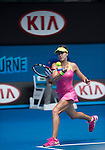 Eugenie Bouchard (CAN) defeats Irina-Camelia Begu (ROU) 6-1, 5-7, 6-2  at the Australian Open being played at Melbourne Park in Melbourne, Australia on January 25, 2015