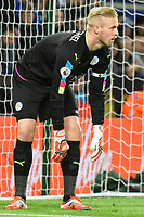 Goalkeeper Kasper Schmeichel of Leicester City during the Premier League match between Leicester City v Sunderland played at King Power Stadium, Leicester on 4th April 2017.<br /> <br /> <br /> available via IPS Photo Agency only