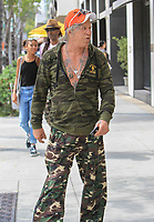 Mickey Rourke Sighted at Cafe Roma in Beverly Hills La.