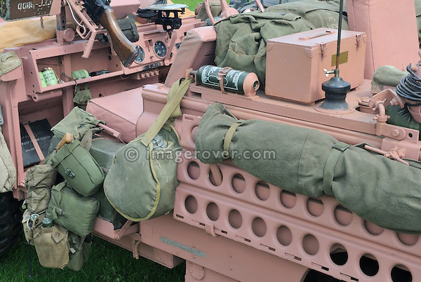 Military Land Rover Series 2a Pink Panther 10 FG 57 at the Gaydon Heritage Land Rover Show 2006. Europe, England, UK. --- No releases available. Automotive trademarks are the property of the trademark holder, authorization may be needed for some uses.
