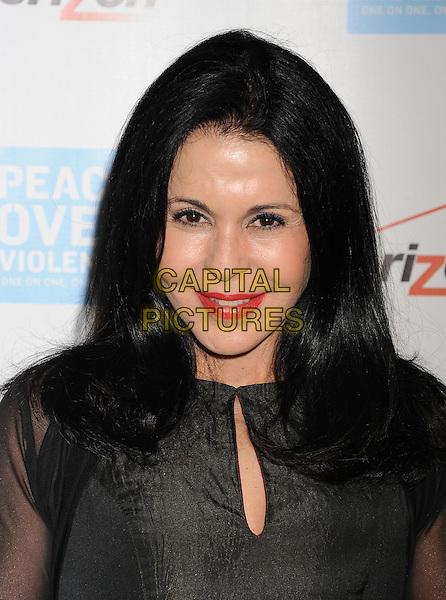Maria Conchita Alonso.The Peace Over Violence 40th Annual Humanitarian Awards dinner at the Beverly Hills Hotel in Beverly Hills, California, USA..October 28th, 2011.headshot portrait red lipstick black grey gray  .CAP/ROT/TM.© TM/Roth/Capital Pictures
