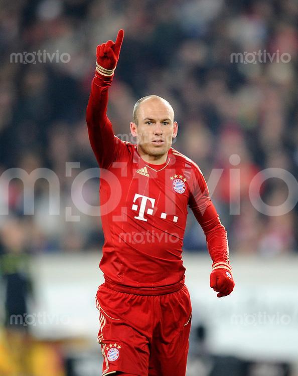 Fussball 1. Bundesliga:  Saison   2011/2012    16. Spieltag VfB Stuttgart - FC Bayern Muenchen  11.12.2011 Arjen Robben (FC Bayern Muenchen)