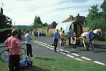 Romany gypsies at the Horsmonden horse fair in Kent.  On this occasion the police were preventing the Romanies from reaching the green in Horsmanden by creating an exclsion zone around the Kent village.