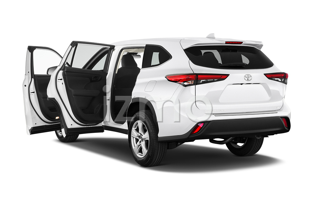Car images close up view of a 2020 Toyota Highlander LE 5 Door SUV doors