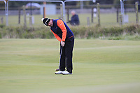 Peter Hanson (SWE) on the 15th green during round 4 of the Alfred Dunhill Links Championship at Old Course St. Andrew's, Fife, Scotland. 07/10/2018.<br /> Picture Thos Caffrey / Golffile.ie<br /> <br /> All photo usage must carry mandatory copyright credit (&copy; Golffile | Thos Caffrey)
