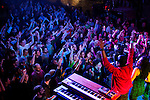 BROOKLYN  -- MARCH 05, 2011:  The audience cheers Robert Randolph, Soulive and other guests during their Bowlive performance at the Brooklyn Bowl on March 05, 2011 in Brooklyn.  (PHOTOGRAPHS BY MICHAEL NAGLE)