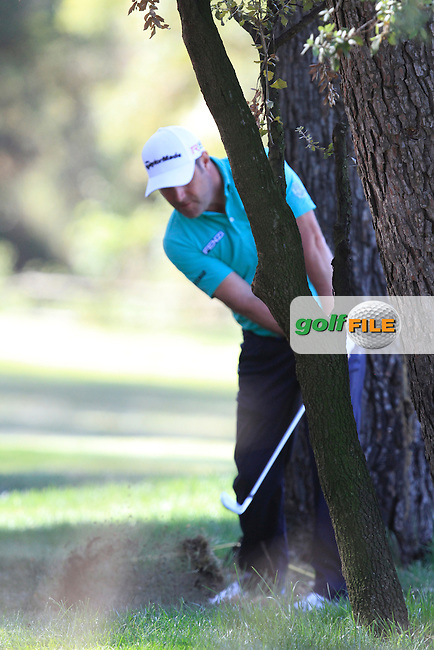 Marco Crespi (ITA) on the 7th during Round 3 of the Open de Espana  in Club de Golf el Prat, Barcelona on Saturday 16th May 2015.<br /> Picture:  Thos Caffrey / www.golffile.ie