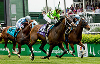LOUISVILLE, KY - MAY 04: Will Call #10, ridden by Shaun Brigdmohan, wins the Twin Spires Turf Sprint on Kentucky Oaks Day at Churchill Downs on May 4, 2018 in Louisville, Kentucky. (Photo by Sue Kawczynski/Eclipse Sportswire/Getty Images)