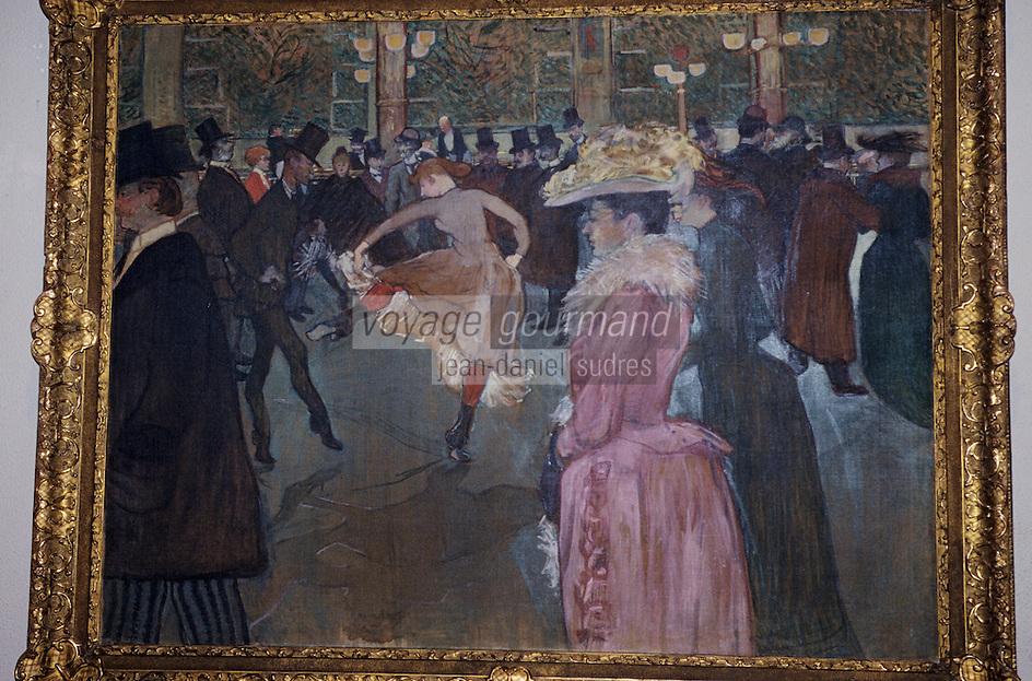 """Amérique/Amérique du Nord/USA/Etats-Unis/Vallée du Delaware/Pennsylvanie/Philadelphie : Philadelphia Museum of Art - """"Le Moulin Rouge"""" de Toulouse Lautrec"""