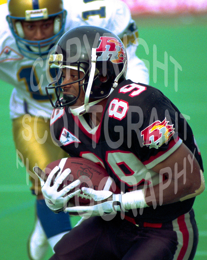 Stephen Jones Ottawa Rough Riders 1992. Photo F. Scott Grant