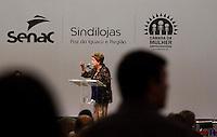 FOZ DO IGUAÇU, PR, 17.03.2014 - POLITICA / ENCONTRO ESTADUAL  - A presidente Dilma Rousseff participou na noite desta segunda-feira(17) em foz do Iguaçu, do encontro das Câmeras da Mulher Empreendedora e Gestora de Negócios, promovido pela Fecomércio (Federação do Comércio de Bens, Serviços e Turismo do Paraná. O encontro aconteceu no Rafain Palace Hotel & Convention Center.  (Foto: Paulo Lisboa / Brazil Photo Press)