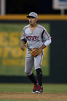 Lake Elsinore Storm shortstop Kevin Melean (17) during a California League game against the Modesto Nuts at John Thurman Field on May 12, 2018 in Modesto, California. Lake Elsinore defeated Modesto 4-1. (Zachary Lucy/Four Seam Images)