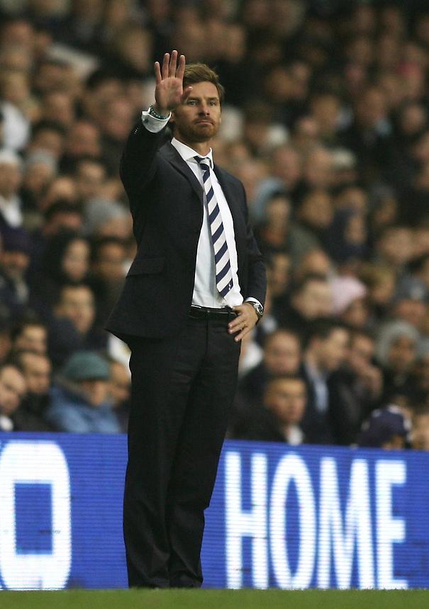 Tottenham Hotspur's Manager Andre Villas Boas reacts..Football - Barclays Premiership - Tottenham Hotspur v Queens Park Rangers - Sunday 23rd September 2012 - White Hart Lane - London..