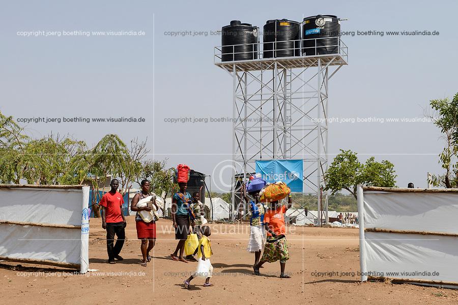 UGANDA, Arua, Yumbe, arrival of south sudanese refugees in Bidi Bidi refugee settlement / Ankunft suedsudanesische Fluechtlinge im Fluechtlingslager Bidi Bidi