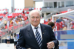 22 July 2007: FIFA President Joseph (Sepp) Blatter before the game. At the National Soccer Stadium, also known as BMO Field, in Toronto, Ontario, Canada. Chile's Under-20 Men's National Team defeated Austria's Under-20 Men's National Team 1-0 in the third place match of the FIFA U-20 World Cup Canada 2007 tournament.