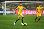 June 13th 2017, Melbourne Cricket Ground, Melbourne, Australia; International Football Friendly; Brazil versus Australia; James Troisi of Australia running toward goal with the ball