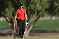 Thomas Detry (BEL) on the 3rd fairway on the 3rd during Round 4 of the Omega Dubai Desert Classic, Emirates Golf Club, Dubai,  United Arab Emirates. 27/01/2019<br />