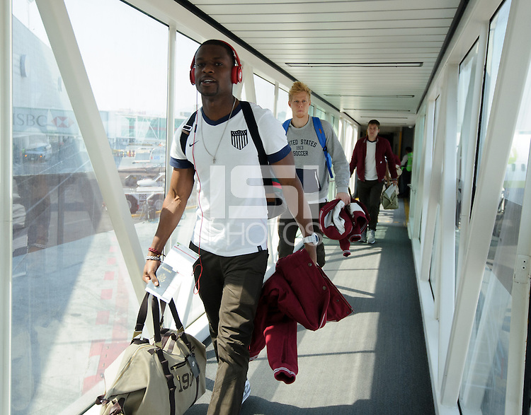Mexico City, Mexico - Sunday, March 24, 2013: The USMNT arrives in Mexico.