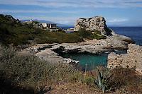 Isola di Pianosa. Pianosa Island. La costa.