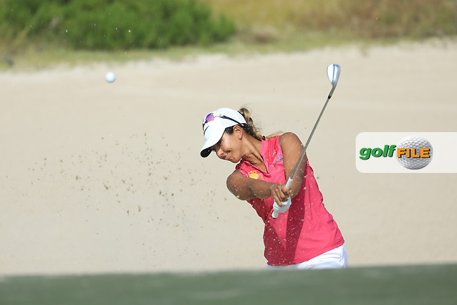 Maha Haddioui (MAR) during the first round of the Fatima Bint Mubarak Ladies Open played at Saadiyat Beach Golf Club, Abu Dhabi, UAE. 10/01/2019<br /> Picture: Golffile | Phil Inglis<br /> <br /> All photo usage must carry mandatory copyright credit (&copy; Golffile | Phil Inglis)