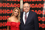 Shiri Maimon with Ambassador Dani Dayan, Consul General of Israel in New York attend a photo call for her Broadway debut as Roxie Hart in 'Chicago' on September 7, 2018 at Sardi's in New York City.