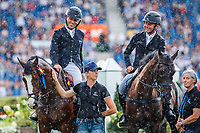 NZL-Tim Price and Dan Jocelyn during the SAP Cup - CICO4*-S Nations Cup Eventing Prizegiving. 2019 GER-CHIO Aachen Weltfest des Pferdesports. Saturday 20 July. Copyright Photo: Libby Law Photography