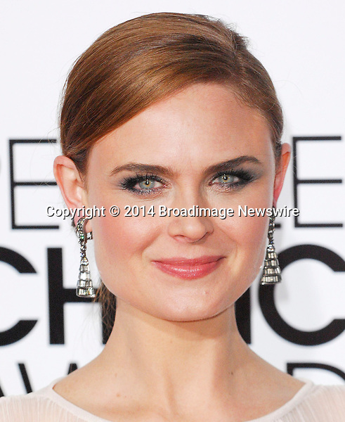 Pictured: Emily Deschanel<br /> Mandatory Credit &copy; Adhemar Sburlati/Broadimage<br /> People's Choice Awards 2014 - Arrivals<br /> <br /> 1/8/14, Los Angeles, California, United States of America<br /> <br /> Broadimage Newswire<br /> Los Angeles 1+  (310) 301-1027<br /> New York      1+  (646) 827-9134<br /> sales@broadimage.com<br /> http://www.broadimage.com
