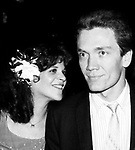 Gilda Radner with her husband G.E. Smith <br /> attending a post performance SAT NITE LIVE party<br /> at Rockefeller Center on June 1, 1980 in New York City.