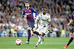 Real Madrid CF's Vinicius Junior  and FC Barcelona's Sergio Busquets during La Liga match. March 02,2019. (ALTERPHOTOS/Alconada)