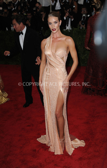 WWW.ACEPIXS.COM<br /> <br /> May 4 2015, New York City<br /> <br /> Rosie Huntington-Whiteley arriving at the Costume Institute Benefit Gala celebrating the opening of China: Through the Looking Glass at the Metropolitan Museum of Art on May 4 2015 in New York City.<br /> <br /> <br /> Please byline: Kristin Callahan/ACE Pictures<br /> <br /> ACE Pictures, Inc.<br /> www.acepixs.com, Email: info@acepixs.com<br /> Tel: 646 769 0430