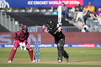 Tom Blundell (New Zealand) drives into the on side during West Indies vs New Zealand, ICC World Cup Warm-Up Match Cricket at the Bristol County Ground on 28th May 2019