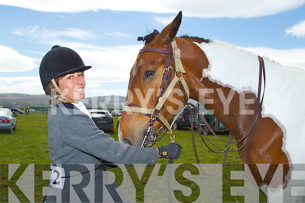 Amanda Lincoln from Newmarket and her horse Bluefoot Batman (a trotting stallion) pictured at the Kingdom County Fair on Sunday..