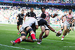 Dylan Collier. All Blacks Sevens beat Japan 26-14. 16 May 2015. Twickenham, London, England. Photo: Marc Weakley