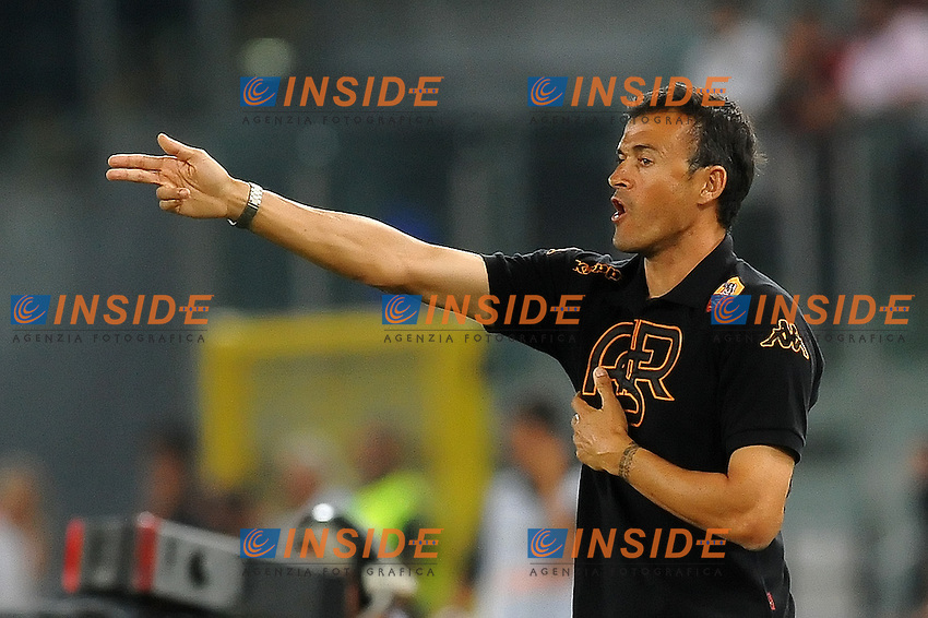 Luis Enrique, allenatore dell'As Roma..Roma vs Slovan Bratislava 1-1.playoff di Europa League di calcio..Stadio Olimpico..Roma, 25/08/2011.Photo  Insidefoto Antonietta Baldassarre