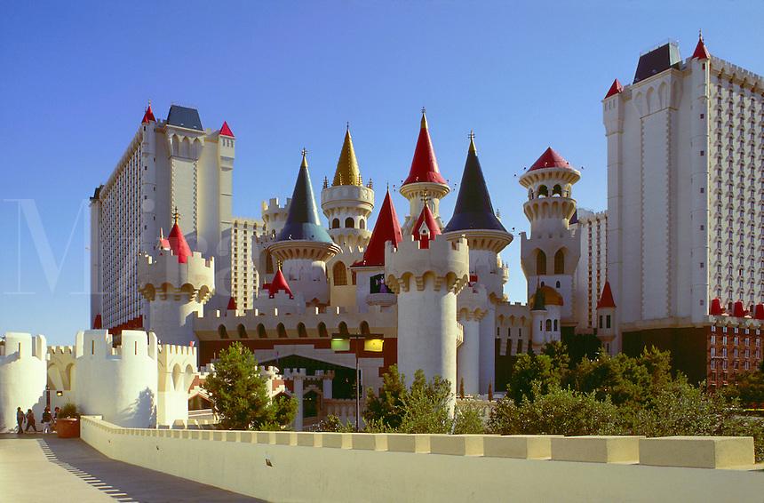The exterior of the Excalibur Hotel and Casino. Las Vegas, Nevada.