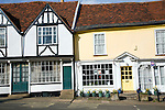 Georgian shop fronts on Market Hill, Woodbridge, Suffolk