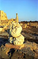 Libia  Sabratha .Citt&agrave;  romana a circa 67km da Tripoli.Il Tempio di Ercole.<br /> Sabratha Libya. Roman city about 67km from Tripoli.<br />  The Temple of Hercules.
