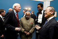 Dr. Klaus Schiaroth, Desmond Tutu, Ed Foster-Simeon, Ichiro Fujisaki. The 2010 US Soccer Foundation Gala was held at City Center in Washington, DC.
