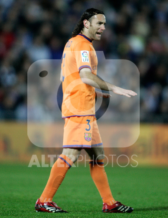 FC Barcelona's Diego Milito during the Spanish League match between Getafe and FC Barcelona at Alfonso Perez Coliseum in Getafe, November 10 2007. (ALTERPHOTOS/Acero).